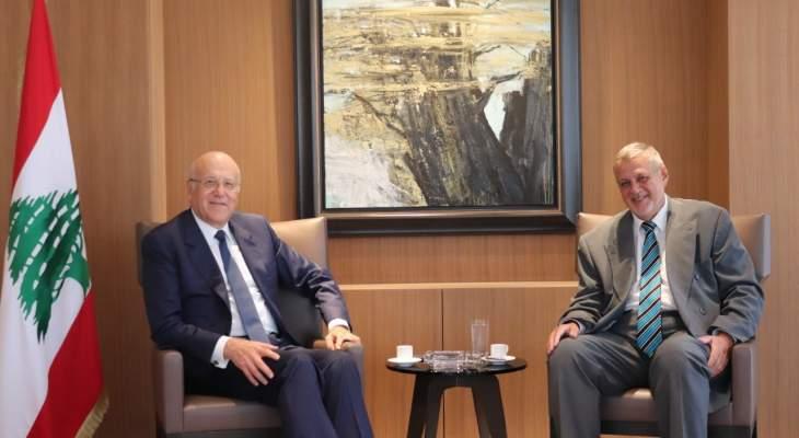ميقاتي التقى كوبيتش في زيارة وداعية: سيبقى صديقا للبنان أينما حل