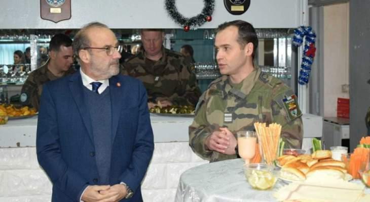 الصراف قام بجولة في الجنوب: لبنان ملتزم بالقرارات الدولية لاسيما ١٧٠١