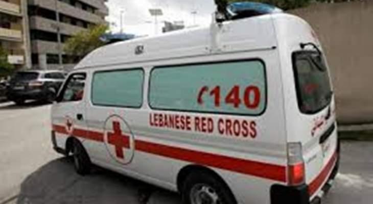الصليب الأحمر: قتيل و جريح من حادث سير في بعلبك