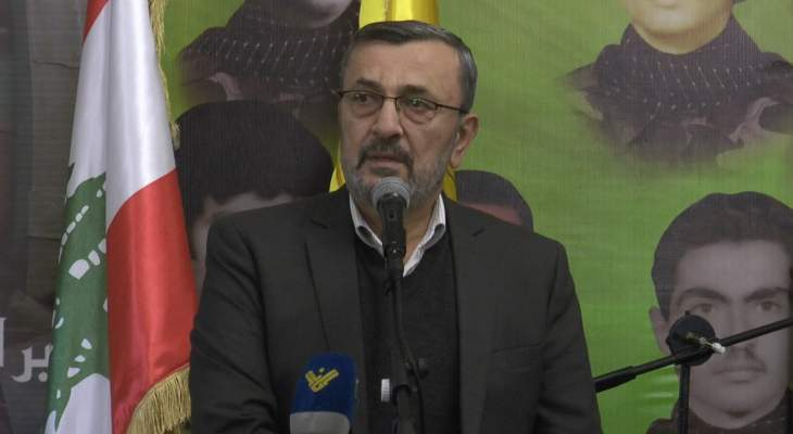 عز الدين: حزب الله لا يغطي من يعبث بأمن الناس ولقمة عيشهم