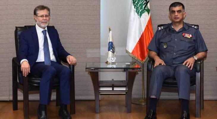 اللواء عثمان استقبل رئيس مجلس إدارة مستشفى الزهراء
