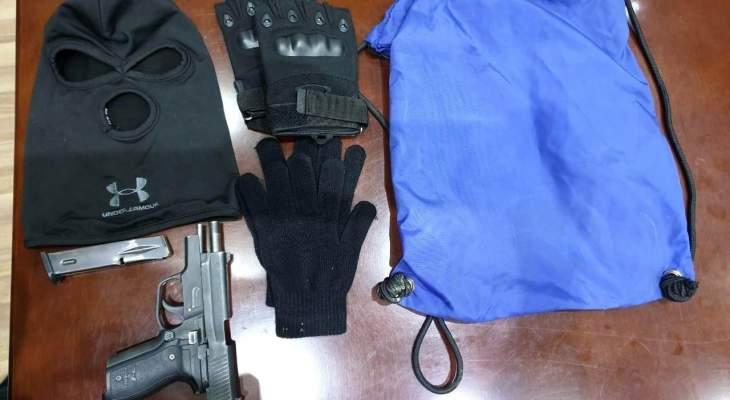 مفرزة بيت الدين القضائية أوقفت شخصين قبل قيامهما بسطو مسلح على مصرف بالدامور