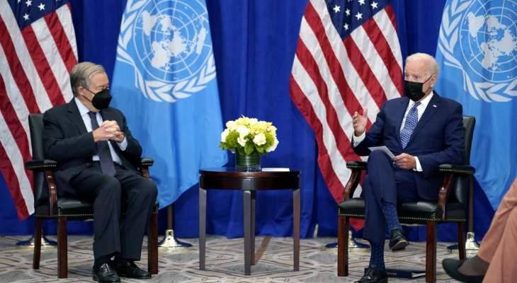 بايدن: على الحكومات مواصلة العمل الممنهج المشترك على تطوير القانون الدولي