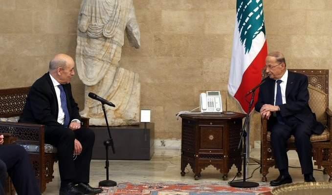 الرئيس عون طلب مساعدة فرنسا في استعادة الأموال المهربة إلى الخارج: هناك أولوية قصوى لتشكيل حكومة