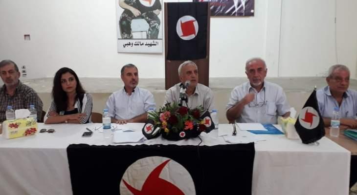 فارس سعد: نحن حزب فكر وثقافة كما حزب صراع ومقاومة