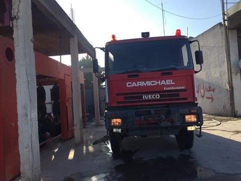 الدفاع المدني يواجه صعوبة في الوصول إلى حريق في المعنية بإقليم الخروب لإخماده