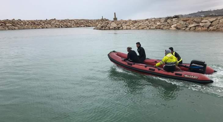 الدفاع المدني أنقذ 4 شبان مقابل شاطئ العقيبة كسروان