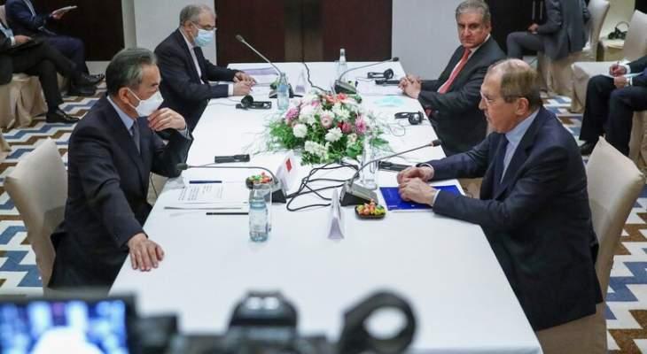 سلطات روسيا والصين وباكستان وإيران تنسق المواقف بشأن أفغانستان