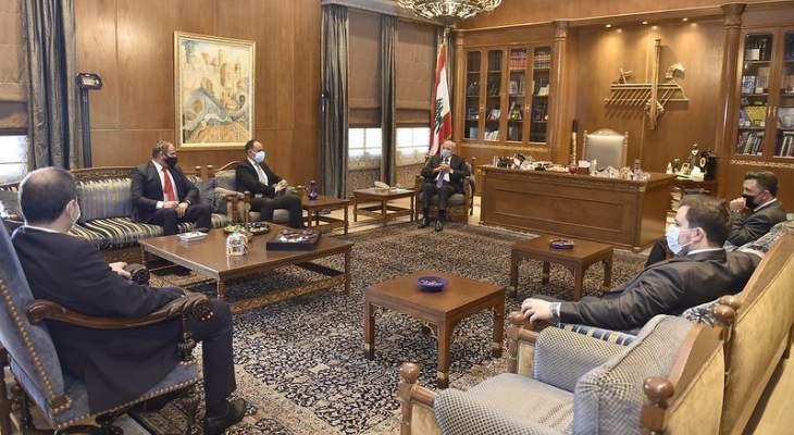"""بري استقبل وفد مؤسسة """"ايدال"""" ووفد الجامعة اللبنانية الثقافية في العالم"""