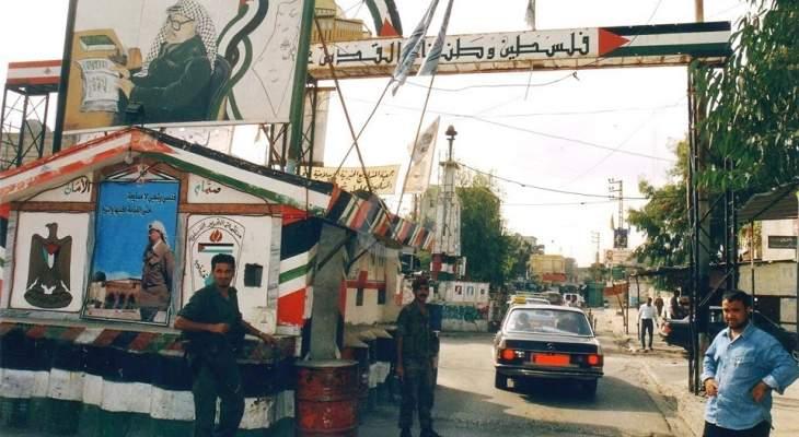 """""""النشرة"""": اقتراح فلسطيني باقفال مداخل عين الحلوة مؤقتا بإستثناء """"الحسبة والحكومي"""""""