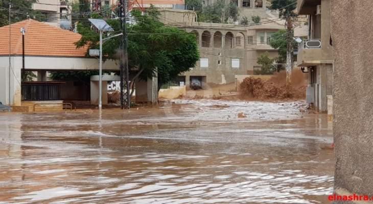 الدفاع المدني في زحلة وبر الياس ورياق توجه إلى رأس بعلبك للمساعدة
