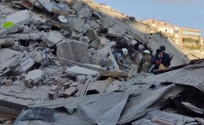 السلطات التركية: الحصيلة الأولية لزلزال إزمير 4 قتلى و120جريحا