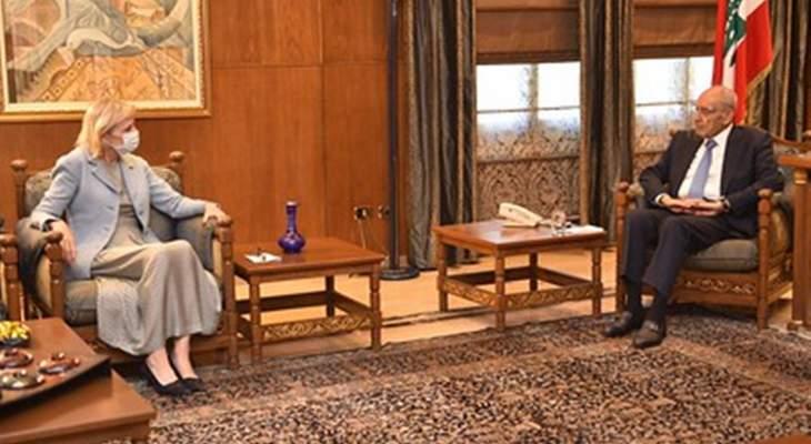 بري بحث مع سفيرة السويد في لبنان اخر التطورات العامة والعلاقات الثنائية بين لبنان ومملكة السويد