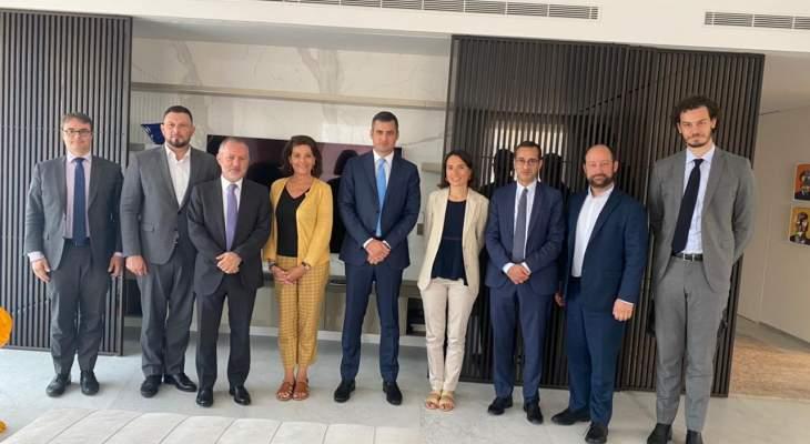 فرنجية عرض مع وفد من مجلس الشيوخ الفرنسي الأوضاع الاقتصادية والسياسية في لبنان