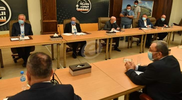 الوفاء للمقاومة: اطالة امد المخاطر واعاقة تشكيل الحكومة هي اهداف يُعمل لها باستمرار من قبل اعداء لبنان