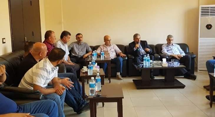 رئيس مصلحة مياه لبنان الشمالي ورئيس بلدية ببنين العبدة بحثا في سير عمل مشروع الشفة