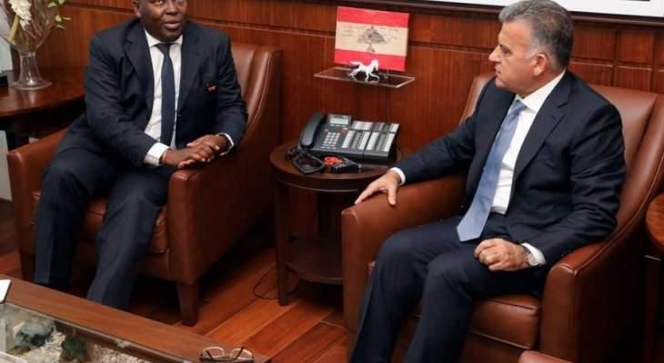 اللواء ابراهيم التقى المستشار الخاص لرئيس جمهورية أفريقيا الوسطى