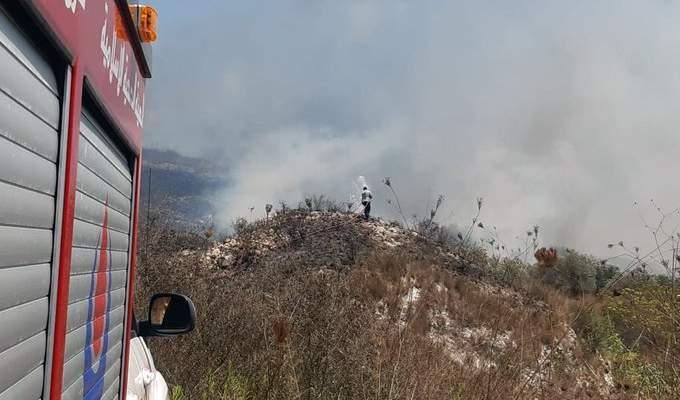 الدفاع المدني: إخماد 4 حرائق بين ديرقانون النهر وبدياس