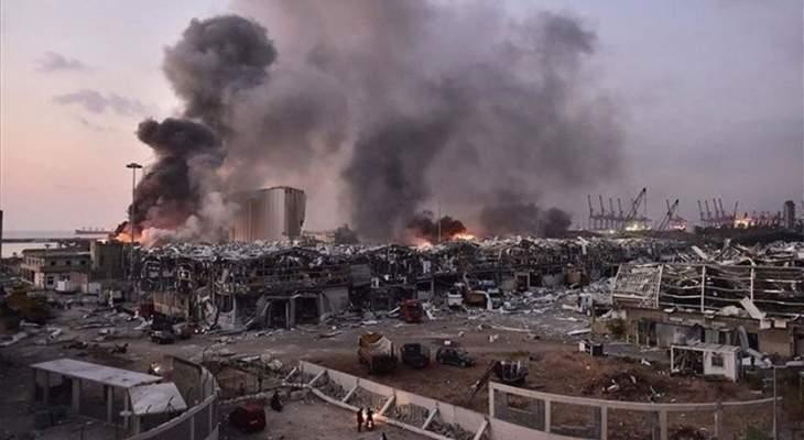 إنتشال جثث 3 شهداء من تحت أنقاض الاهراءات في مرفأ بيروت اليوم