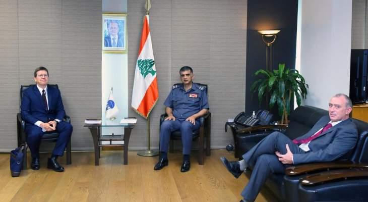 مدير عام قوى الأمن استقبل ملحق الأمن الداخلي الجديد لدى السفارة الفرنسية