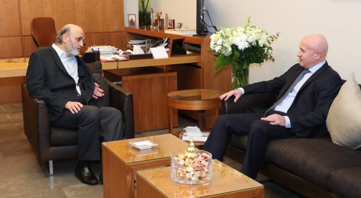 جعجع بحث مع سفير الارجنتين اخر التطورات السياسية في لبنان