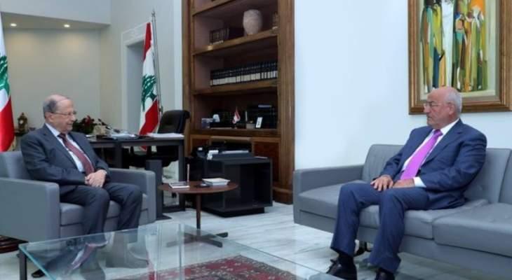 الرئيس عون التقى العريضي موفدا من جنبلاط