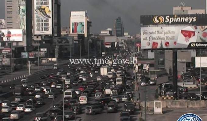 التحكم المروري: حركة المرور كثيفة من جسر الرينغ باتجاه الاشرفية