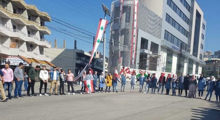 طلاب عكار شاركوا باعتصام خيمة حلبا مطالبين بحقوق عكار واستعادة الاموال المنهوبة