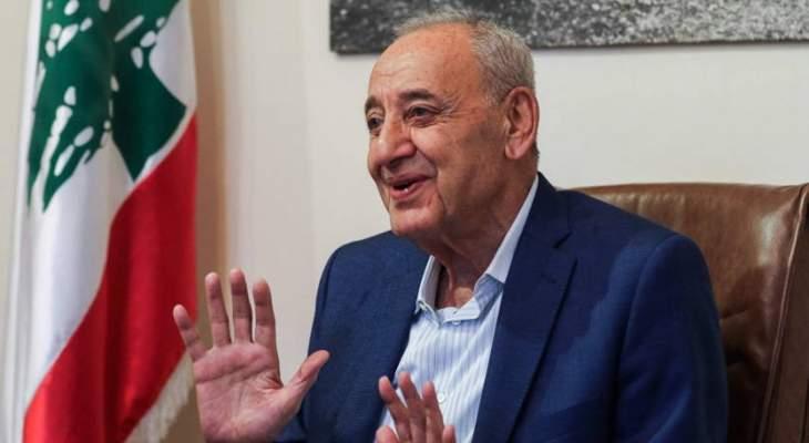 بري يعرض التطورات العربية والفلسطينية مع وفد من حماس