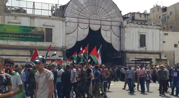 السوريون والفلسطينيون أحيوا يوم القدس في دمشق