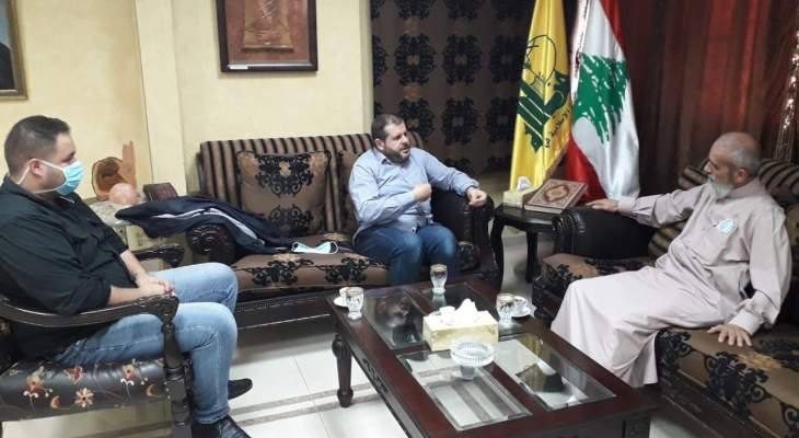 حزب الله يستقبل مدير جمعية نور اليقين الخيرية في صيدا
