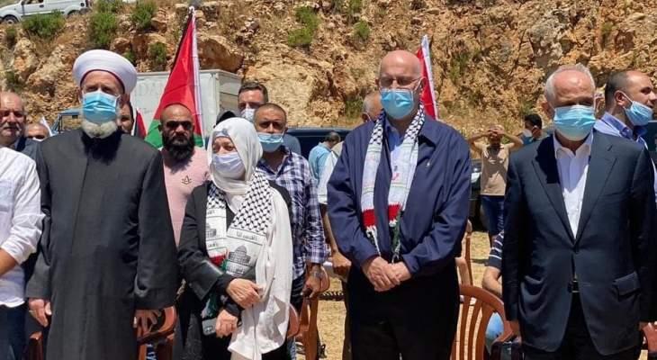 وقفة تضامنية لتيار المستقبل مع الشعب الفلسطيني أمام الشريط الحدودي