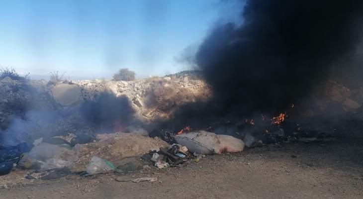 مجهولون احرقوا اكوام نفايات رميت عشوائيا في جرود الضنية