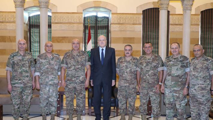 ميقاتي: دعم المؤسسة العسكرية وسائر القوى الامنية مسألة أساسية نعمل على ايجاد الحلول لها
