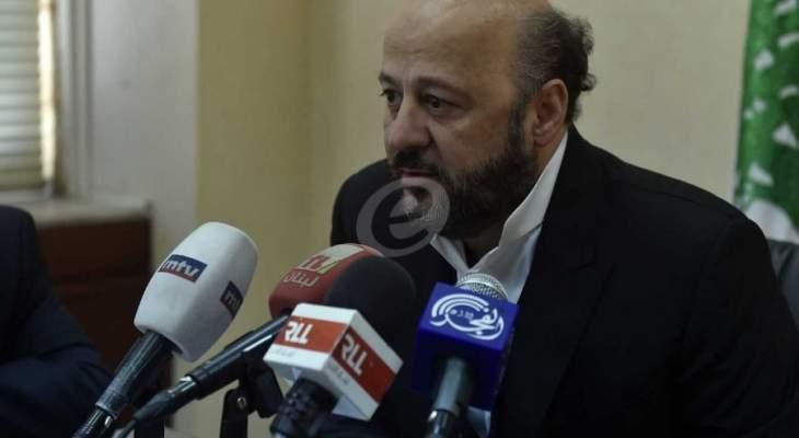 رياشي: بعض العناصر في القوات كانت تعمل على قطع الطرقات خلال احداث 17 تشرين