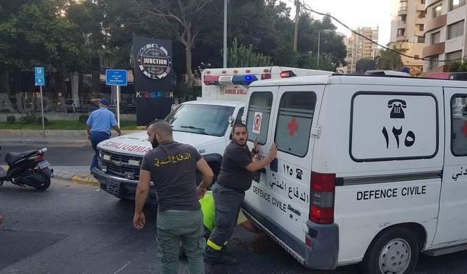 الدفاع المدني: جريح اثر حادث سير على طريق عام بدنايل