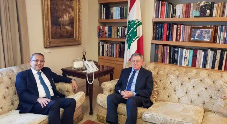 السنيورة عرض مع سفير مصر الاوضاع العامة والعلاقات الثنائية