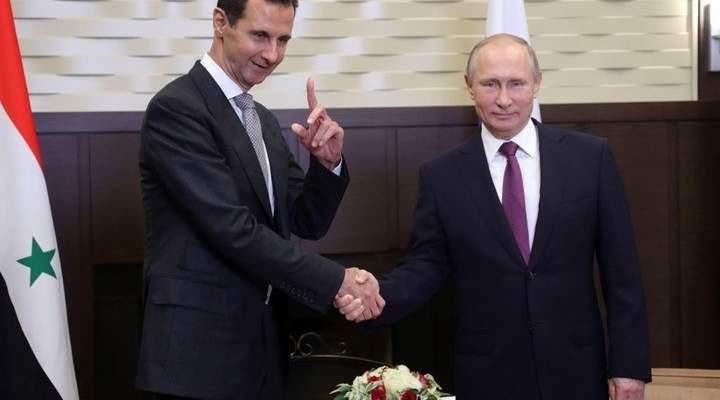 الكرملين: بوتين اتصل بالأسد واطلع منه على التحضيرات للانتخابات الرئاسية