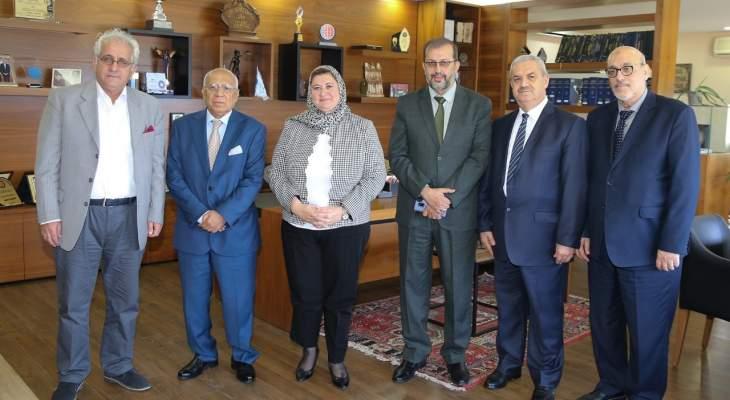 رئيسة الجامعة الاسلامية التقت مستشار رئيس مجلس الوزراء العراقي