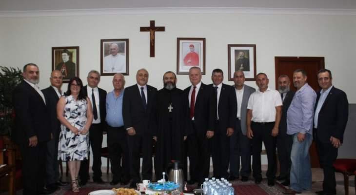 وفد القوات في سيدني يزور الرئيس العام للرهبانية اللبنانية المارونية