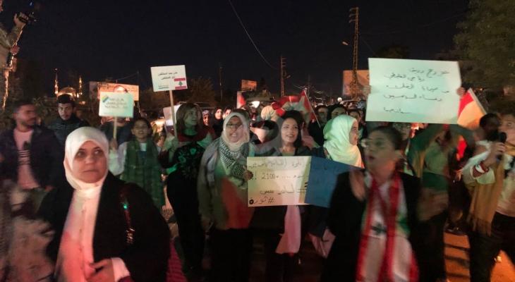 النشرة: مسيرة نسائية من امام النافعة في صيدا الى تقاطع إيليا