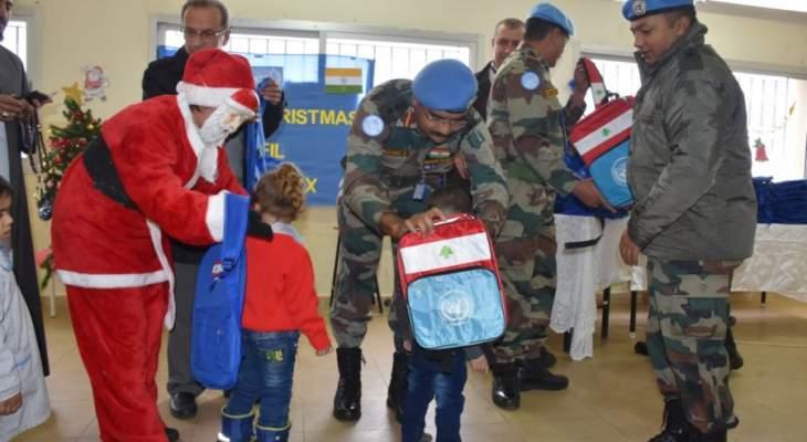 الكتيبة الهندية تحتفل بالميلاد في معظم المدارس الواقعة ضمن منطقة عملها