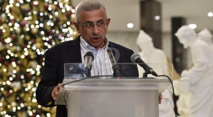 أسامة سعد دعا اللبنانيين للتنبه والوقوف صفا واحدا في مواجهة اسرائيل