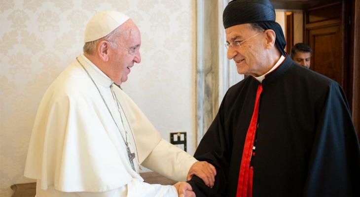 البابا فرنسيس وجه رسالة للراعي: أسأل اله الرحمة أن يغدق عليكم من قوته للقيام بمهام ولايتكم الأسقفية