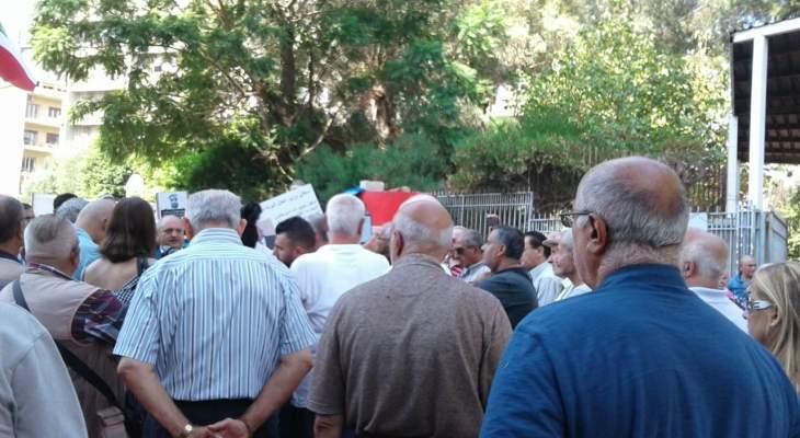 لجان المستأجرين نفذوا اعتصاما أمام وزارة العدل