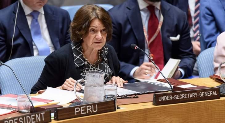 وكيلة الأمين العام للأمم المتحدة للشؤون السياسية ستزور لبنان في 9 الى 11 الحالي