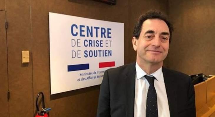 شوفالييه: فرنسا خصصت 50 مليون يورو للصحة والغذاء والتعليم وإعادة الإعمار بلبنان