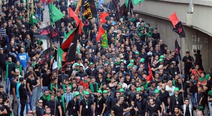 الخيمة المركزية في ساحة الإمام الصدر في صور غصت بالحشود لإحياء ذكرى عاشوراء