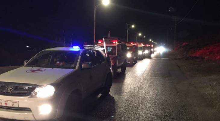 وصول الجثامين التي قد تكون للعسكريين الثمانية الى بلدة اللبوة