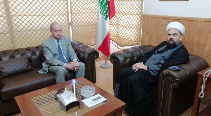 احمد قبلان التقى السفير الاسباني وبحث معه العلاقات